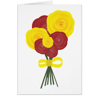 Red & Yellow Flowers Greeting Card