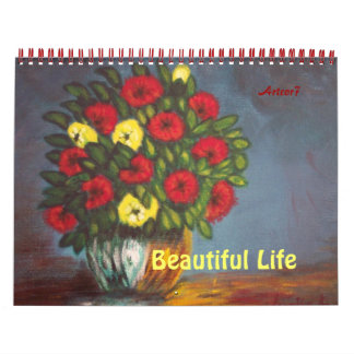 Red Yellow Flowers Painting 2015 Calendar