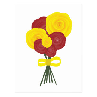 Red & Yellow Flowers Postcard