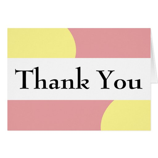 Red Yellow Geometric Typography Thank You Card Zazzle