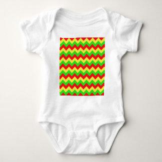 Red, Yellow, Green Chevron Design Baby Bodysuit