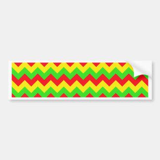 Red, Yellow, Green Chevron Design Bumper Sticker