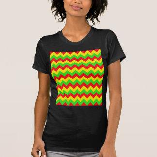 Red, Yellow, Green Chevron Design T-Shirt