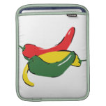 Red Yellow Green Chili Pepper Graphic iPad Sleeve