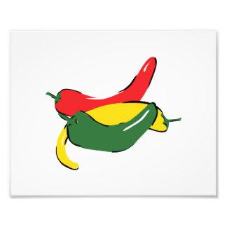 Red Yellow Green Chili Pepper Graphic Art Photo