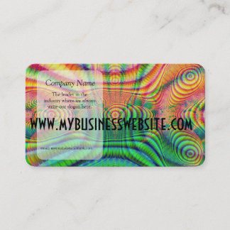 Red Yellow Green Fractal 7 Business Card