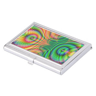 Red Yellow Green Fractal 7 Business Card Case