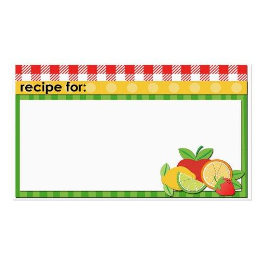 business recipe card