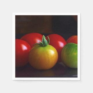 Red, Yellow, Green & Orange Cherry Tomatoes Standard Cocktail Napkin