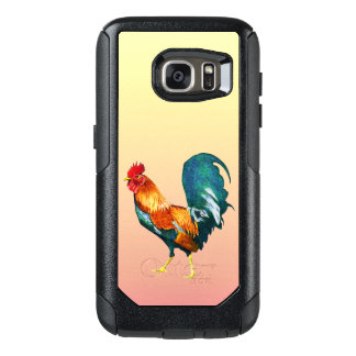Red Yellow Green Rooster Bird Galaxy S7 Case