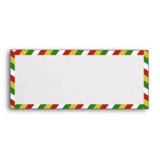 Red Yellow Green White Airmail Stripes #10 Envelope