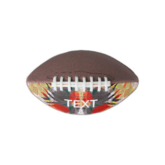 Red Yellow Grey Zebra Abstract Football
