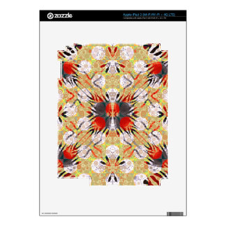 Red Yellow Grey Zebra Abstract iPad 3 Decal
