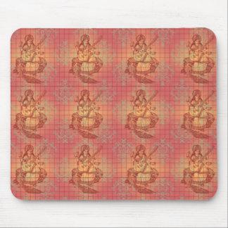 red yellow hindu Goddess Saraswati Wisdom India Mouse Pad