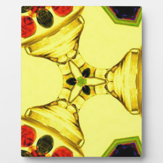 Red Yellow Modern Art Abstract pattern Plaque