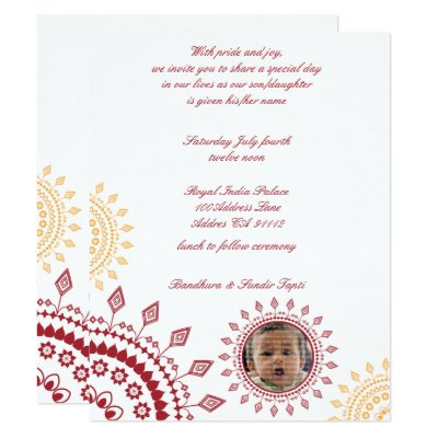 Cute Green Namkaran Baby Naming Invitations Zazzle Com