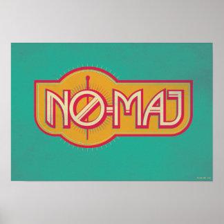 Red & Yellow No-Maj Badge Poster
