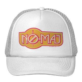 Red & Yellow No-Maj Badge Trucker Hat