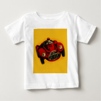 Red Yellow Old Auto Racing Car Baby T-Shirt