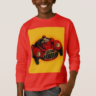 Red Yellow Old Auto Racing Car T-Shirt