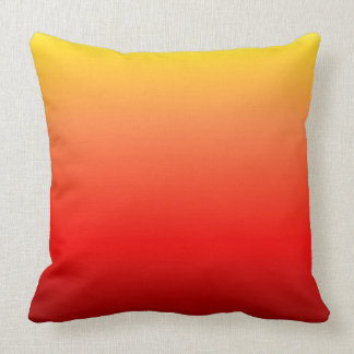 Red Yellow Ombre Throw Pillow