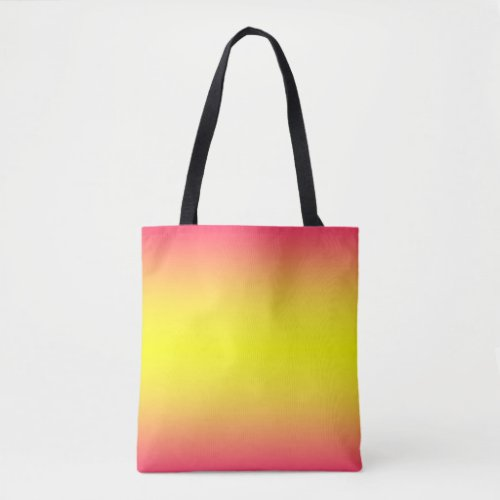 Red Yellow Ombre Tote Bag