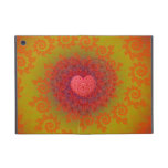 Red Yellow & Orange Heart Fractal iPad Mini Cover