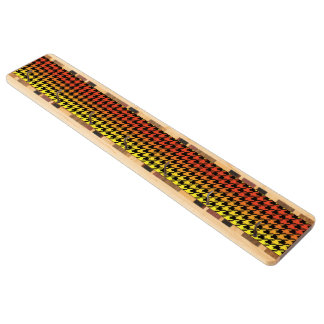 Red yellow orange houndstooth key holder