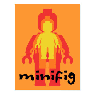 Red Yellow Orange Minifig by Customize My Minifig Postcard