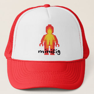 Red Yellow Orange Minifig by Customize My Minifig Trucker Hat