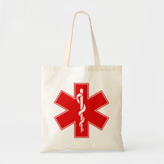 Red Yellow Orange White Nurse EMS Star of Life Tote Bags