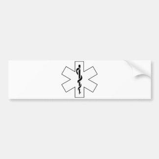 Red Yellow Orange White Nurse EMS Star of Life Bumper Sticker