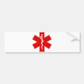 Red Yellow Orange White Nurse EMS Star of Life Bumper Stickers