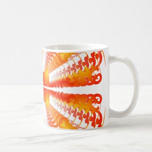 Red & Yellow Patterns: Vector Drawing: Coffee Mug