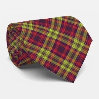 Red & Yellow Plaid Neck Tie