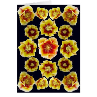Red & Yellow Prickly Pear Cactuscomposite 2 as Car Card