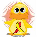 Red & Yellow Ribbon Duck Photo Cutouts