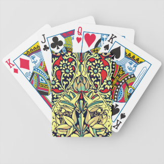 Red Yellow Rose Floral Design Bicycle Playing Cards