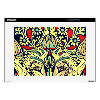 "Red Yellow Rose Floral Design Skins For 15"" Laptops"