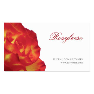 Red & Yellow Rose - Florist / Floral Consultant Business Cards