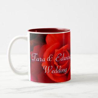 Red Yellow Rose Two-Tone Coffee Mug