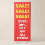 """[ Thumbnail: Red & Yellow """"Sale! Sale! Sale!"""" Vertical Banner ]"""