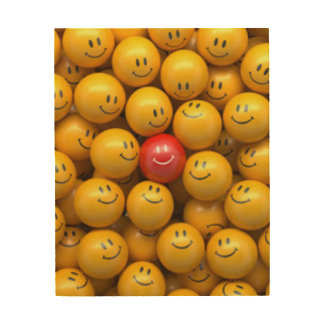 Red Yellow Smiley Faces Pattern Design Wood Wall Decor