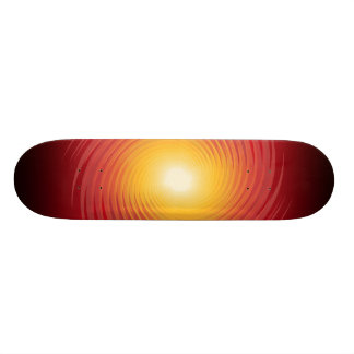 Red & Yellow Spiral Design: Custom Skateboard