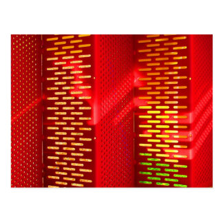 Red Yellow Stairs Abstract Saturated copy Postcard