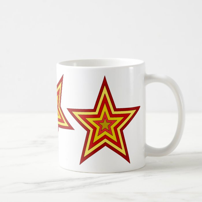 Red Yellow Star Coffee Mug