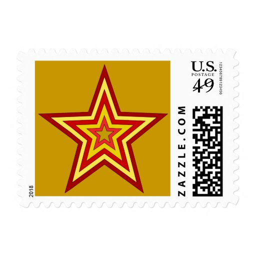 Red Yellow Star Postage