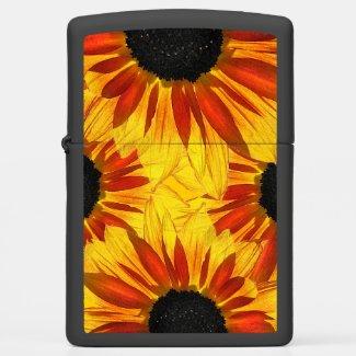 Red Yellow Sunflower Garden Flower Zippo Lighter