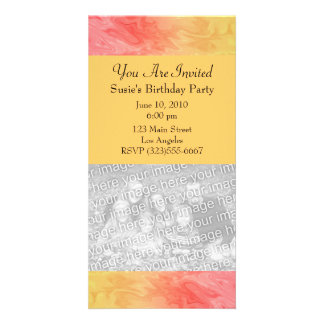 Red Yellow Texture pattern Card