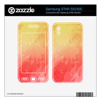 Red Yellow Texture pattern Samsung STAR S5230C Decal